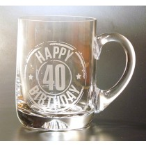 HAPPY 40TH BIRTHDAY TANKARD PINT