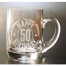 HAPPY 50TH BIRTHDAY TANKARD PINT