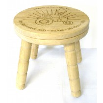 WOODEN RUBBER WOOD CHILDS MILK STOOL