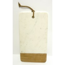 MARBLE & WOOD RECTANGLE -CHOPPING BOARD