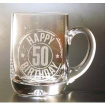 HAPPY 50TH BIRTHDAY TANKARD PINT