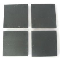 SLATE S/4 SQ COASTERS 10CM