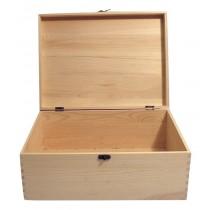 WOODEN PINE KEEPSAKE HINGED BOX