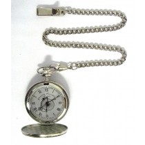 CHROME POCKET WATCH 47MM + CHAIN