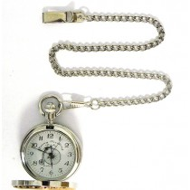 TWO TONE POCKET WATCH 47MM + CHAIN