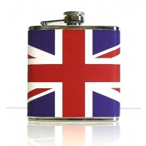 HIP FLASK (UK) FULL COLOUR 6oz Boxed