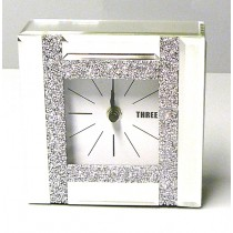 Mirror Diamond Clock 15cm
