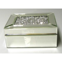 Mirror Diamond Jewel Large Box Rectangle 19cm