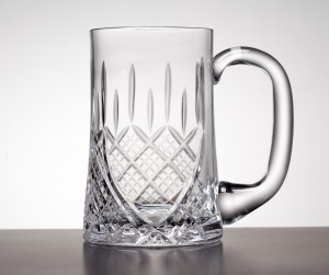 TANKARD 1 PINT INVERTED WITH PANEL -WORCESTER CUT
