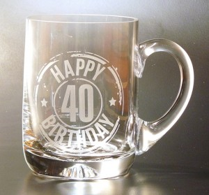 HAPPY 40TH BIRTHDAY TANKARD PINT